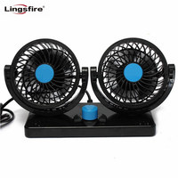 360 Rotating Free Adjustment Car Auto Cooling Air Fan Ventilation Dashboard Electric Car Fan Summer Cooling