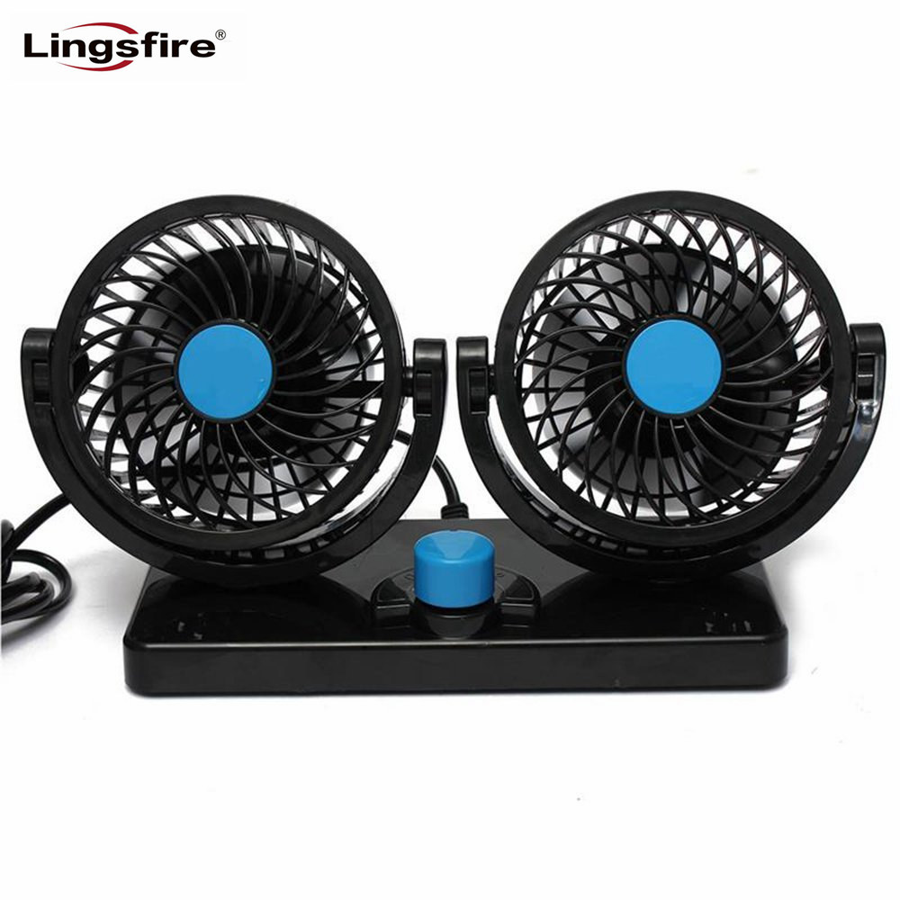 цена на 360 Rotating Free Adjustment Car Auto Cooling Air Fan Ventilation Dashboard Electric Car Fan Summer Cooling Air Circulator