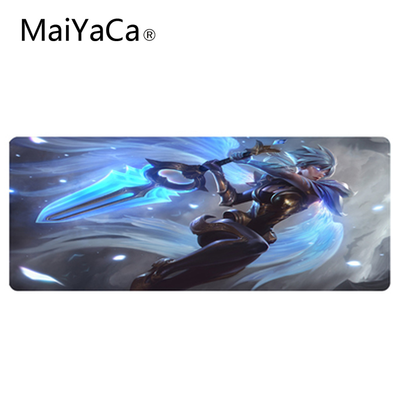 MaiYaCa For Nightly messenger Yasuo and Scarlet Moon Ember Gaming Pad de Verrouillage Tapis de Souris pour PC Portable