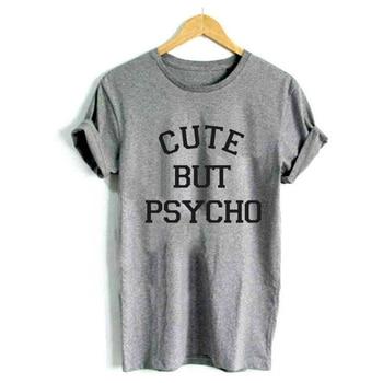 Lindo estampado Mujer camiseta Casual divertida camiseta para dama ...