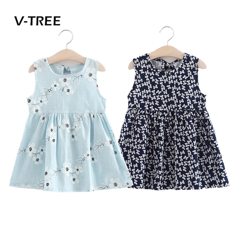 V-TREE summer baby girls dress sleeveless children kids dress cotton sundress for girl fashion clothes 18M-6Year summer kids dresses for girls pineapple lemon girl dresses cotton sleeveless children sundress sarafan clothes for girls 2 7y