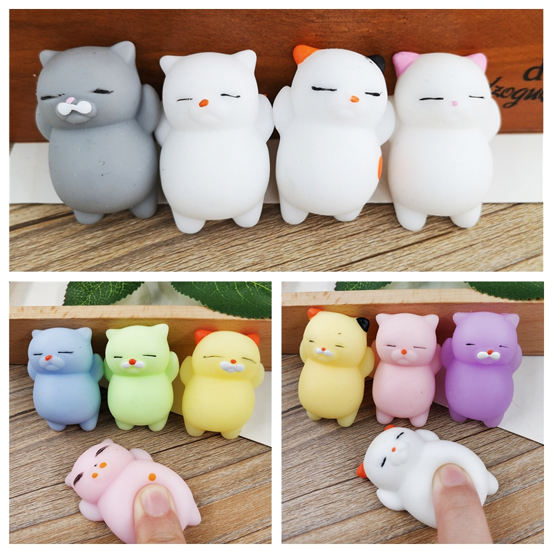 Official Website 4pcs/lot Kawaii Squishy Cute Mini Pregnant Rolling Lazy Cats Toy Soft Hand Pinch Squeeze Stress Relief Phone Strap Kid Gifts Mobile Phone Straps Cellphones & Telecommunications
