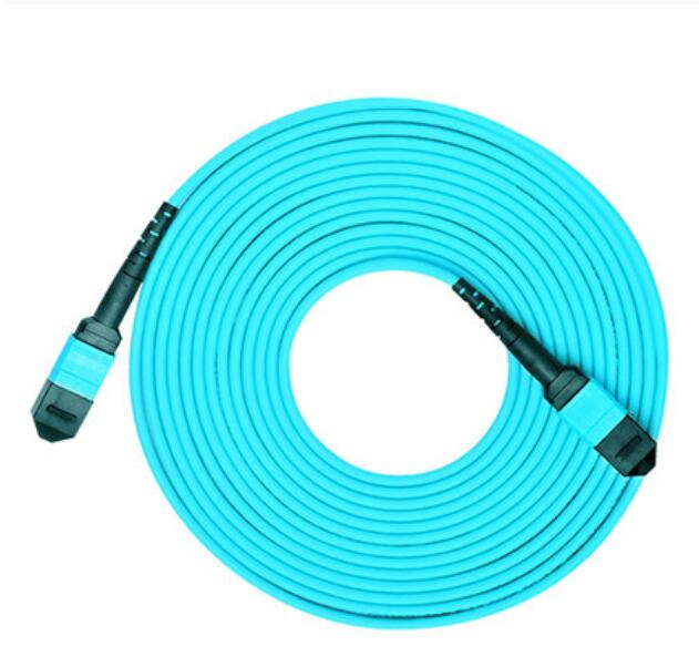 Câble optique de corde de correction de Fiber de noyau de 3 M MPO-MPO 8 10 GB 50/125 OM3 câble optique Multimode de Fiber