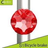 Meilan S1 USB Bike rücklicht Mini 7LED 80Lm 350mAh 7 modi Wiederaufladbare Bike safelight Brechen Licht Mit G-sensor