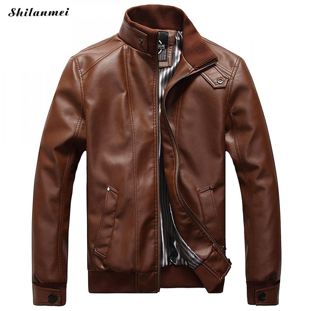 Motorcycle Leather Jackets Men Autumn and Winter Leather Clothing Men Leather Jackets Male Business Casual Coats Plus Size