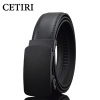 Luxury Businese Casual Belt Man Black Brown Genuine Leather Belts For Jeans Automatic Buckle Strap Belt