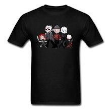 T-shirt pour hommes, vêtement à la mode, Style de rue, avec dessin animé d'horreur, 100 Kanji espagne