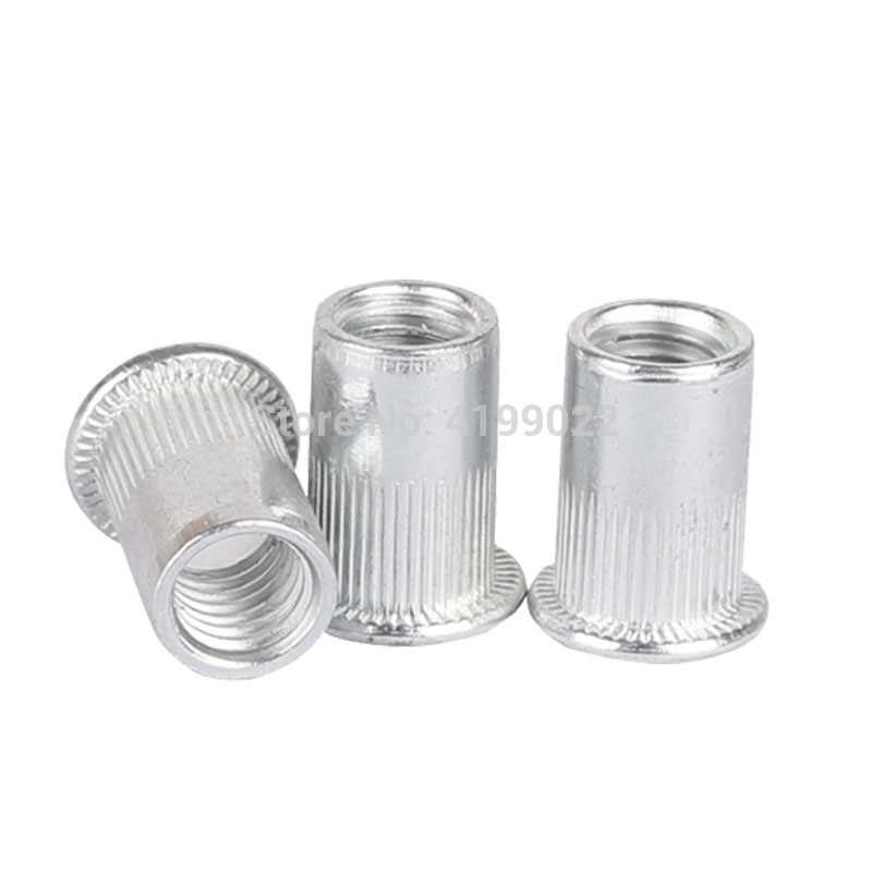 20Pcs M3 M4 M5 M6 M8 M10 M12 Aluminum Alloy Rivnut Flat Head Threaded Rivet Insert Nutsert Cap Rivet Nut