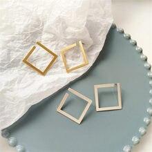 Brincos geométricos clássicos, brincos clássicos com exageração de metal, brincos de declaração de moda feminina