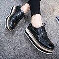 Женские Квартиры Обувь Из Натуральной Кожи Оксфорд Обувь Для Женщин Мода Женская Обувь Бренда Лианы Лианы Туфли На Платформе Мокасины