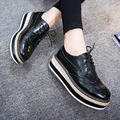 Women's Flats Shoes Genuine Leather Creepers Oxford Shoes For Women Fashion Ladies Shoes Brand Creepers Platform Shoes Loafers