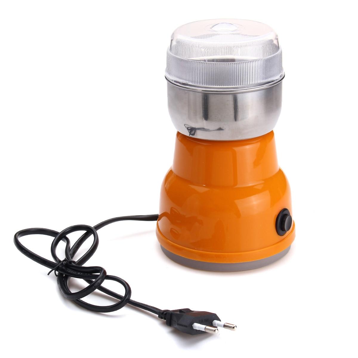 Tragbare Auto-manuelle kaffeemühle Maschine EU Stecker 220 v Home Küche Salz Pfeffer Mühle Spice Muttern Elektrische Kaffee grinder