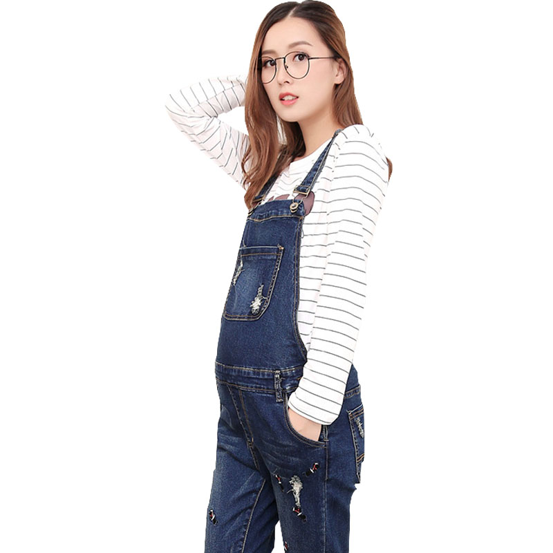 Embroidery Denim Overalls Maternity Jeans Straps Pants For Pregnant Women Clothes Pregnancy Braced Suspender Jumpsuits Rompers woman fashion slim solid knee distrressed maternity wear jeans premama pregnancy prop belly adjustable pants for women c73
