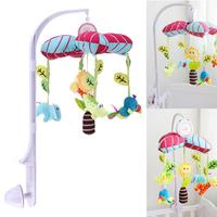 Cute Baby Stroller Hanging Doll Rack with Mobile Music Box Lovely Soft Plush Rattle Dolls Baby Crib Bell Trolly Fix Holder Toy
