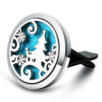 Christmas Tree Car Air Diffuser Stainless Steel Vent Freshener Car Essential Oil Diffuser Perfume Aromatherapy Necklace Lockets