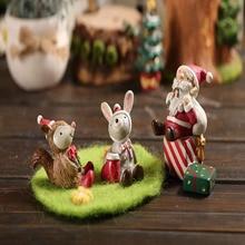 A cute miniature mini animal DIY creative look up starry sky micro landscape flowerpot craft Christmas gift home decoration 2019