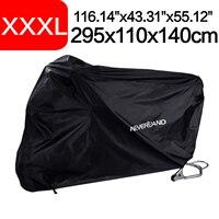 XXXL 295x110x140cm 190T Waterproof Black Motorcycle Motor Bike Scooter Protector Rain Snow Sun Indoor Outdoor Covers Coat