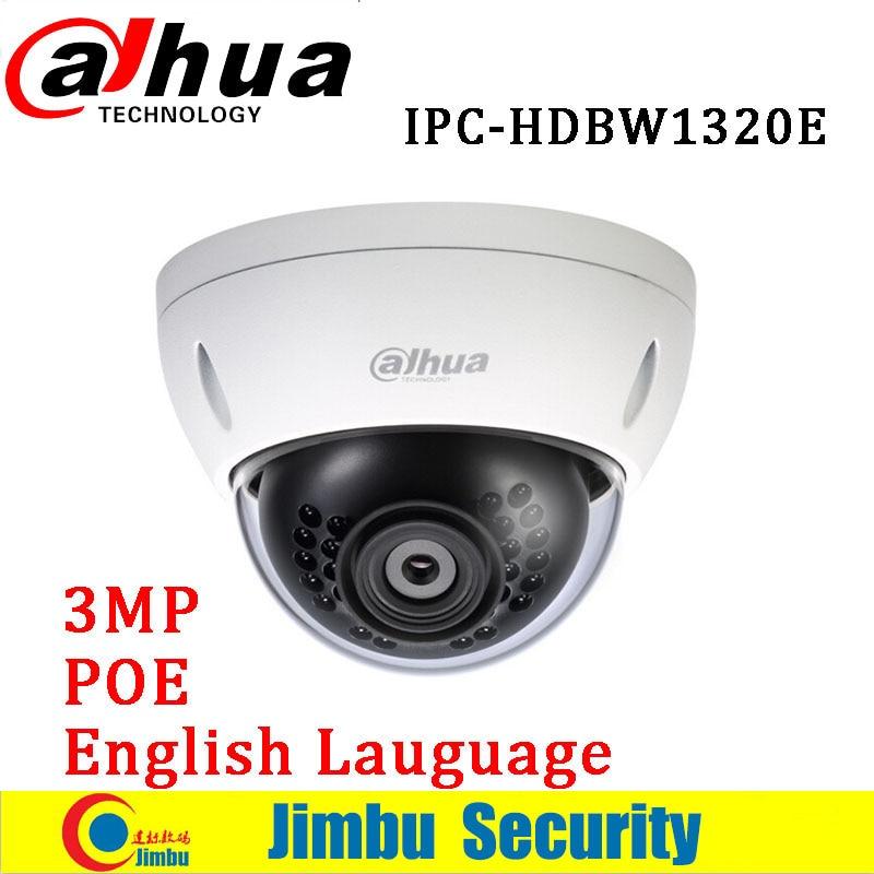Dahua 3MP IP mini camera Waterproof IPC-HDBW1320E ONVIF HD IP66 IR POE Network Dome security Camera HDBW1320E dahua 3mp ir waterproof