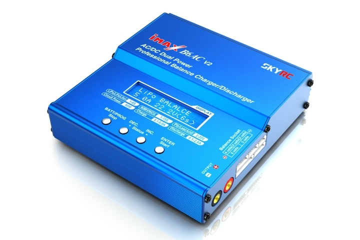 SKYRC IMAX B6AC V2 Charger 50W Lipo 6A Battery Balance Charger Discharger with Power Cable for RC Quadcopter Drone Re-Peak Mode original ev peak d1 rc lipo battery charging for yuneec typhoon q500 intelligent balance battery charger
