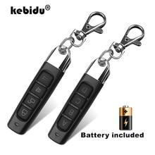 Kebidu Controle remoto para abertura de portão de garagem, 4 canais, duplicador e clonagem de código, chave de carro codificada, 433MHZ