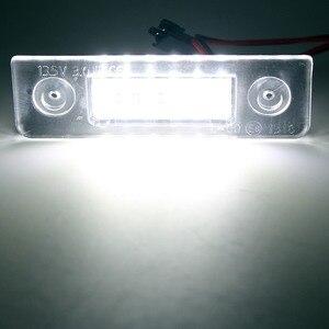Image 4 - 2 sztuk Canbus bezawaryjna samochodowa LED numer oświetlenie tablicy rejestracyjnej dla Skoda Octavia 2 1Z 2008 ~ Roomster 5J 2006 2010