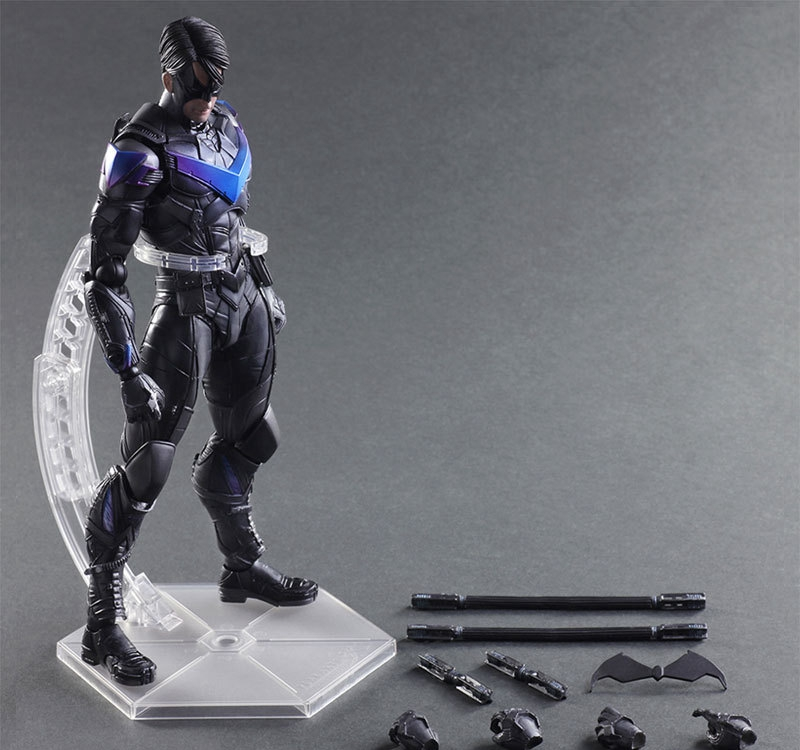 Play Arts Kai Nightwing Batman Arkham Knight Variant Play Art KAI PVC Action Figure Night wing PLAY ART 25cm Doll Toys gogues gallery two face batman figure batman play arts kai play art kai pvc action figure bat man bruce wayne 26cm doll toy
