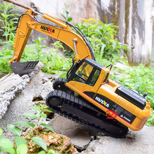 Simulation Alloy Excavator Model 1:40 Children's Construction Vehicle Toys Children's Toy Room Collection Furnishings Boy Toys