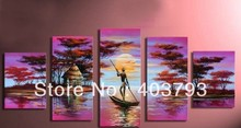Afirca style landscape modern fashion  oil painting on canvas for decoration free shipping