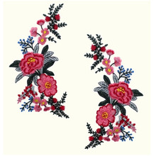 Embroidered flower stickers patches ethnic wind embroidered accessories clothes jeans handmade DIY craft appliqued fashion patch
