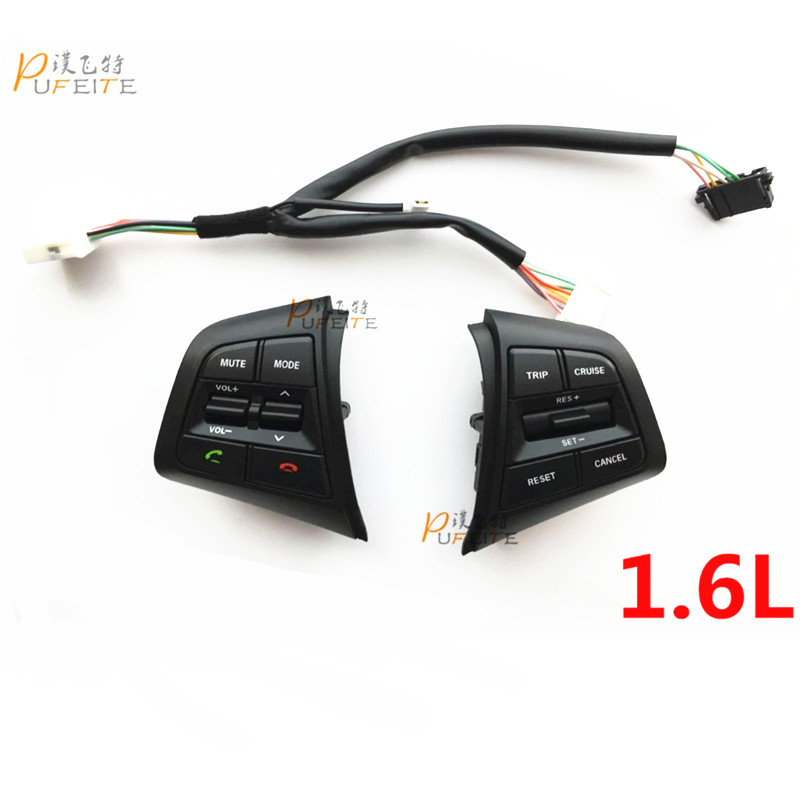 Steering Wheel Button For Hyundai ix25 1 6L Buttons Bluetooth Phone Cruise Control Volume channel Remote
