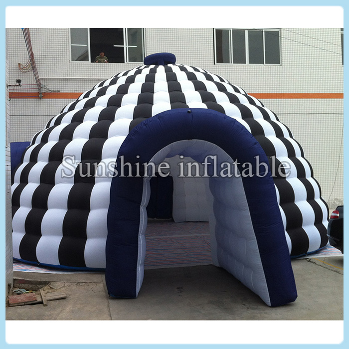 New designed portable white and black marquee giant inflatable igloo dome tent with tunnel entrances for outdoor activities-in Party DIY Decorations from ... & New designed portable white and black marquee giant inflatable ...