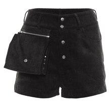 Fashion Women Shorts Solid Color Button Beach High Waist Shorts Hot Trousers Ladies Streetwear Pocket High Waist Womens Trousers high waist thin flower print womens shorts