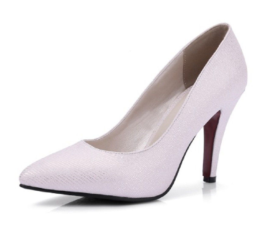 spring/autumn shoes woman solid color high heel thin heels pointed toe elegant ladies leg shoes work career pumps women big size 2017 new spring autumn big size 11 12 dress sweet wedges women shoes pointed toe woman ladies womens