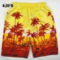 Summer Men`s Beach Shorts Hawaiian Hawaii Floral Printed Plus Size Oversized Loose Baggy Board Wear Casual Short