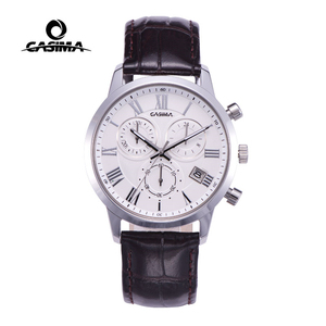 Image 2 - Relogio Masculino CASIMA קוורץ שעון גברים למעלה מותג יוקרה שעון יד Mens לוח שנה שעון עור עסקי שעות Montre Homme