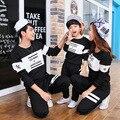 2017 niños moda de otoño de Corea familia madre hija lovers'suits un suéter de manga larga en nombre de