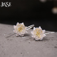 Women Fashion S925 Pure Silver Jewelry Handmade Crafts Beautiful 15mm Blooming Flower Princess Fine Quality Quality
