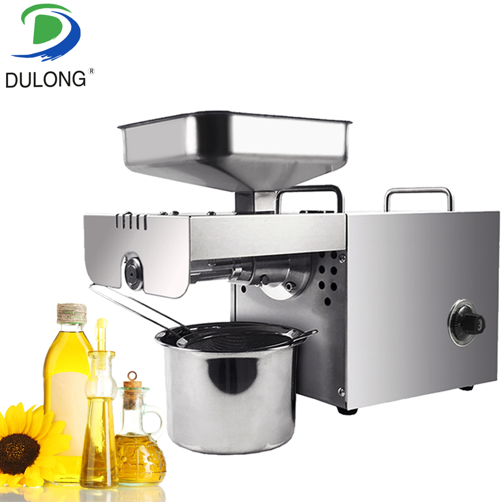 Home use mini oil cold press machine multi-functional oil extractor with automatic temperature control automatic nut seeds oil expeller cold hot press machine oil extractor dispenser 350w canola oil press machine
