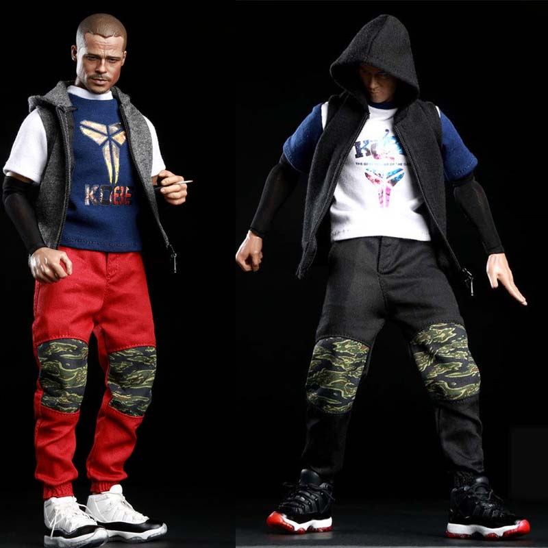 Mnotht 1/6 Male Solider Hip hop outfit FG039 Parkour Camo sportswear For 12in Action Figure Toy l30 Fashion Solider Clothes