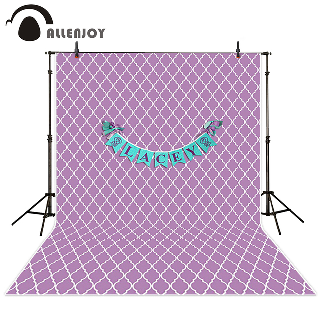 Allenjoy استوديو الصور خلفية بيربل الأبيض المشارب الأزرق عيد تخصيص صورة المتصل التصوير الشخصي