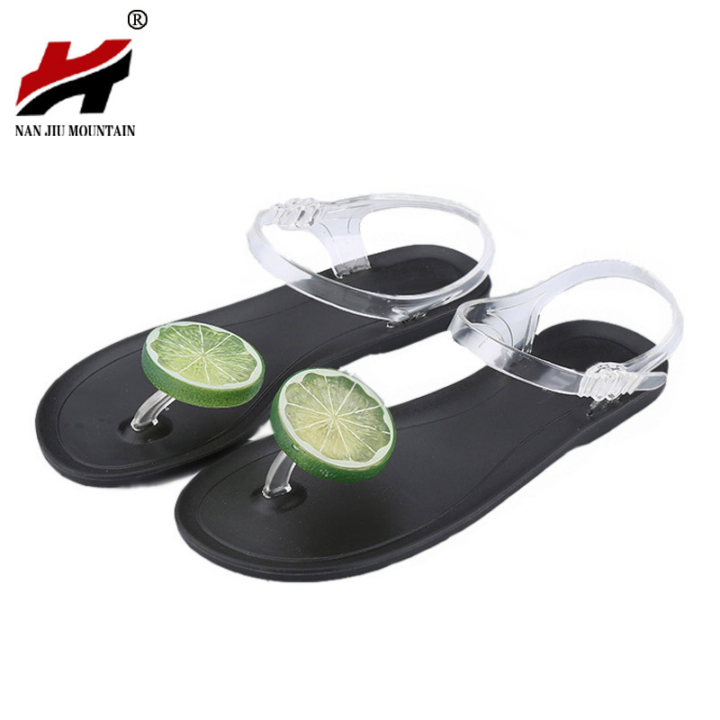 цены Women Shoes 2017 Sandalias Mujer Fruit Flip Flops Jelly Sandals Shoes Girls Summer Flat Beach Sandals Flip Flops Women Sandal