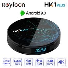 4 GB 64 GB Android 8.1 Smart TV BOX HK1 PLUS procesor Amlogic S905X2 podwójny Wifi BT4.0 USB3.0 H.265 4 K youtube Google asystent głosowy HK1PLUS
