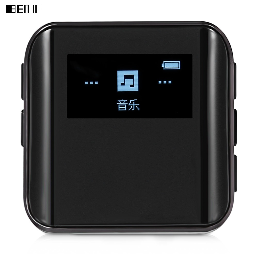 BENJIE K10 Mini lecteur MP3 MSONV technologie 8G hyperboloïde OLED portable MP3 avec Clip Sport Support Radio FM E-Book Hifi musique
