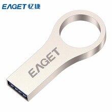 EAGET USB Flash Drive 16GB 32GB 64GB High Speed USB Memory Shockproof U-Stick USB3.0 Metal External Storage Pendrive