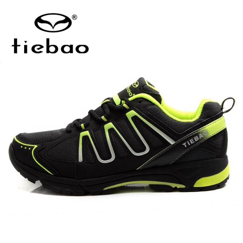 ФОТО TIEBAO Professional Men Women Bicycle Shoes MTB Road Bike Cycling Shoes Leisure Self-locking Sport Shoes zapatillas clismo
