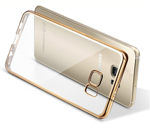 Silicone Case with US Gold Frame For Samsung Galaxy S7 Edge