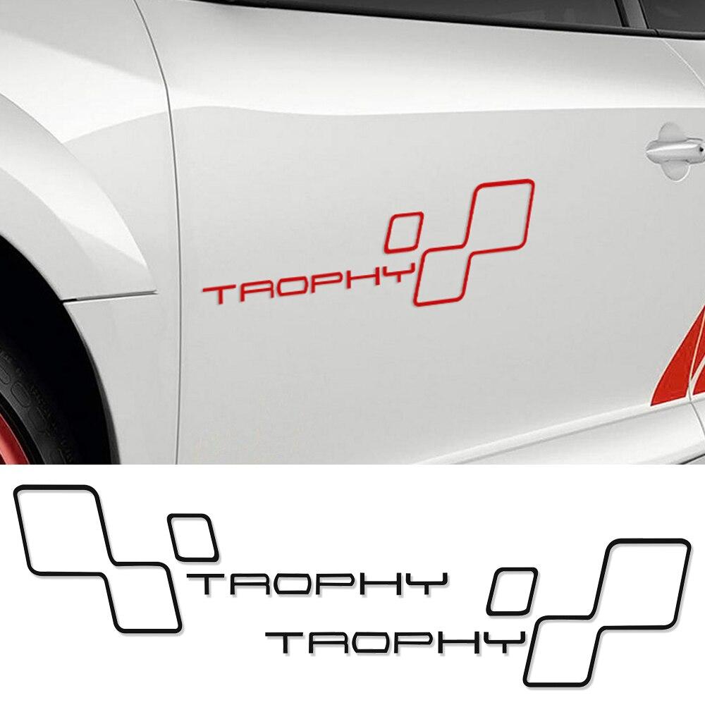 Porte réfléchissante Côté Course TROPHÉE Autocollant De Voiture Decal Pour Renault Sport Clio Cup Twingo Megane 2 RS GT Fluence Logan accessoires
