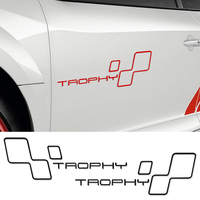 Reflective Door Racing Side TROPHY Car Sticker Decal For Renault Sport Clio Cup Twingo Megane 2 RS GT Fluence Logan Accessories