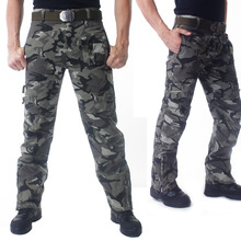 Classic Men Overalls Military Style High End Cargo Pants Tactical Commado Multi Pockets Zipper Loose Trouser Male Casual Pants