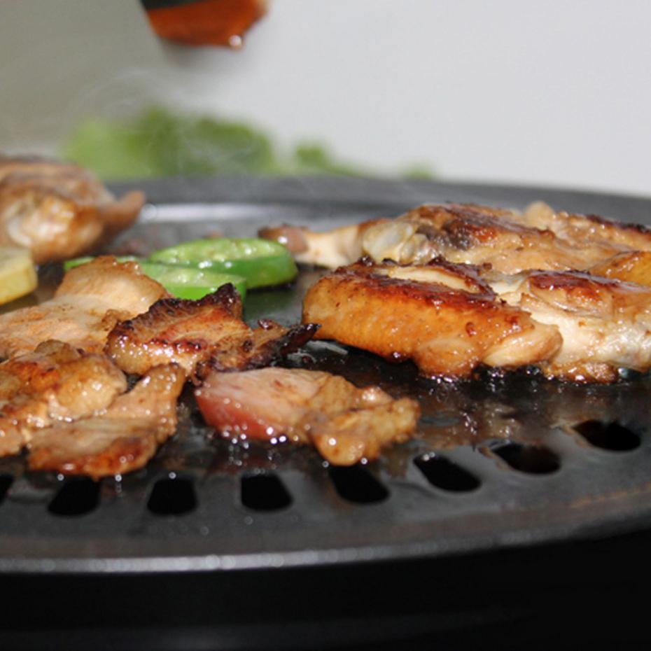 Здоровый бездымного плите гриль антипригарная жаровню открытый Пособия по кулинарии инструмент чугунные сковороды Кухня Аксессуары для барбекю